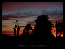 Sunset Volleyball by Manveru