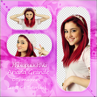 Pack PNG-Ariana G by pame13editions