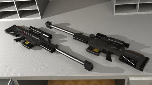 DNM XR8 Sniper rifle by SteamTank