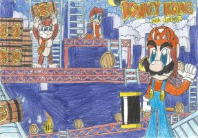 Donkey Kong with Jumpman(Mario) Remake version by FelixToonimeFanX360