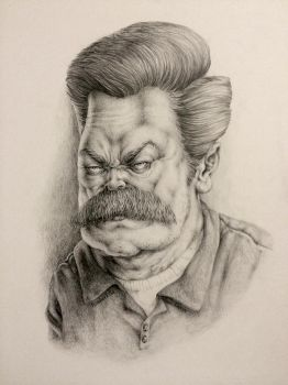 Ron Swanson by TamberElla