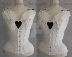 Feather and stuff corset Handmade by AtelierSylpheCorsets