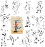 Cats and random doodles by rodrev