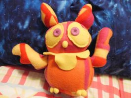 Plush - Sunset the prototype owl by Fluna
