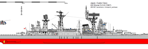Oyabe-class Guided Missile Cruiser (1967) by ijnfleetadmiral