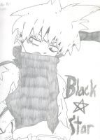 Black Star in Pencil by xlHaseolx