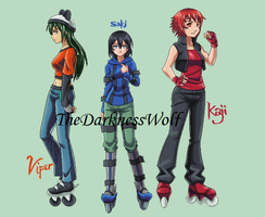 Air Gear ocs by TheDarknessWolf