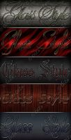 Glass Styles for Photoshop by DiZa-74