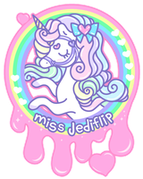 Rainbow Unicorn Logo by MissJediflip
