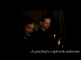 Holmes and Watson Wallpaper: Friends by aleineskyfire