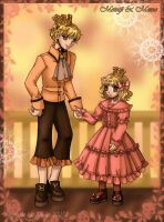 Royal Siblings -for Heiwa-chan by falling-starchild