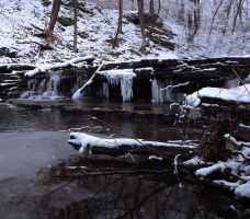 Ice Snow and Waterfall by FeralAltruist