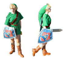 Majora's Mask Link cosplay - front and side view by Skull-the-Kid