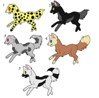 Doggy Adoptables by BrownkitBrownclaw