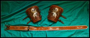 Belt and bracer Unicorn Set by Shattan