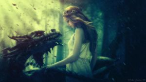 Unexpected Friendship: Forest Dragon by yudha007