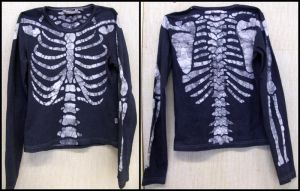 Batik skeleton shirt by ZombieArmadillo