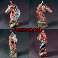 Ulysses Zombie Horse Bust ooak by Undead-Art