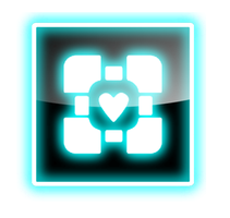 Companion Cube Transparent Icon by WinryBaby