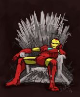 IRON MAN ON THE IRON THRONE by arillia13