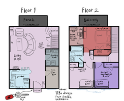 Cherry's Apartment basic floor plan by moonlightartistry