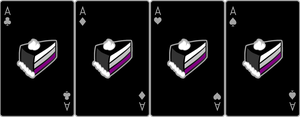 Ace Deck 73: Cake+Black+Grey by Galadnilien