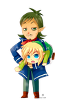 -- Keychain Commission : Link and Linebeck -- by Kurama-chan