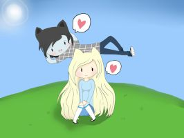 Marshall Lee And Fionna by cuteangel51