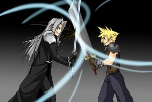 FFVII - Showdown of Fate by LightningGuy