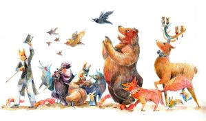 Animal's parade by Pendalune