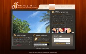 dtfGraphics webdesign by darylferil