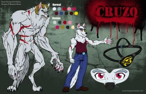 Character Sheet: Cruzo Demon Husky by Uncle-Bang