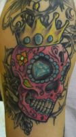 Pink Sugar Skull by Dripe