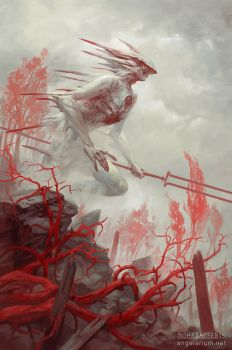 Gadreel, Angel of War by PeteMohrbacher