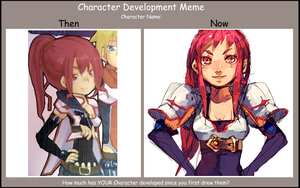 character dev meme by mintapple