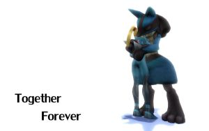 Lucario and Samus Forever by Barto22