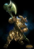 League of legends-Nasus Fan art by VictorBang