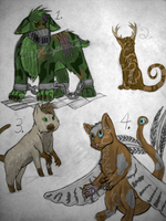 mutant cats auction~ by eaglespirit1