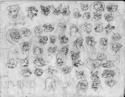 100 heads and poses P6 by Redfoxbennaton