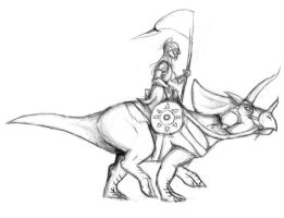 Rohirrim And Triceratops by Shadow-Lockheed