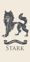 Stark - Ice and Fire House Banners by Nukaleu