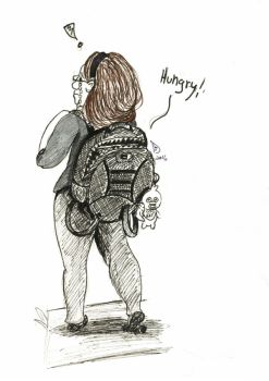 My hungry backpack by Dedechibi