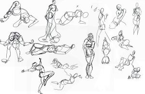 figure drawing drawings by 24movements