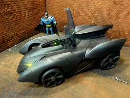Custom Batmobile Repaint Cowl Open by skphile