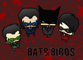 Bat and Birds by drwarumono