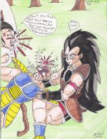What If-Nappa and Raditz P.2 by Iziume89