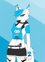 Black blue and white by Xyri