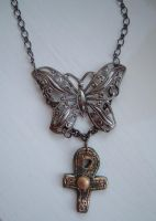 dcs butterfly ankh pendant by angelicgem