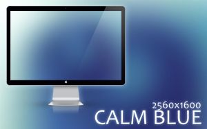 Calm Blue Wallpaper by kingmoeha