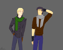 Draco and Theo by annogueras